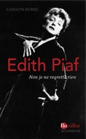 Edith Piaf - Couverture - Format classique