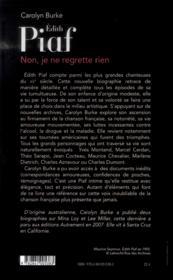 Edith Piaf - 4ème de couverture - Format classique