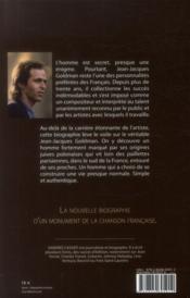 Jean Jacques Goldman ; authentique - 4ème de couverture - Format classique