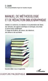 Manuel de méthodologie et de rédaction bibliographique - Couverture - Format classique
