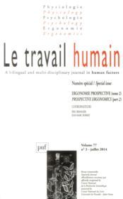 REVUE LE TRAVAIL HUMAIN N.77/3 (édition 2014) - Couverture - Format classique