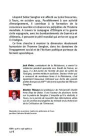 Lépold Sédar Senghor ; tourangeau et soldat des idéaux de la France - 4ème de couverture - Format classique