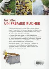 Installer un premier rucher : guide pratique du débutant - 4ème de couverture - Format classique