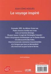 Le voyage inspiré - 4ème de couverture - Format classique