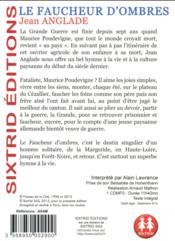 Le faucheur d'ombre - 4ème de couverture - Format classique