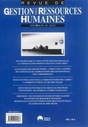 Revue Gestion Des Ressources Humaines N.96 - Couverture - Format classique