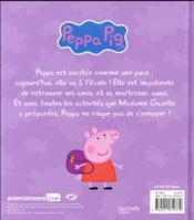 Peppa va à l'école - 4ème de couverture - Format classique