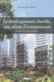 Le développement durable, une affaire d'entrepreneurs - Couverture - Format classique
