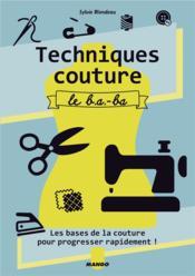 Techniques couture ; le b.a - b.a - Couverture - Format classique
