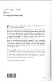 Jésus ; une biographie historique - 4ème de couverture - Format classique