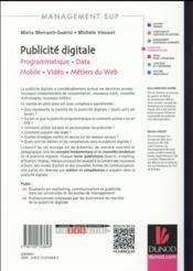 La publicité digitale - 4ème de couverture - Format classique