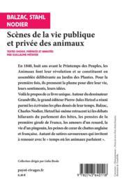 Scènes de la vie privée et publique des animaux ; études de moeurs contemporaines - 4ème de couverture - Format classique