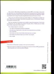 Français langue étrangère ; A2/B1 ; dictées ; pour apprivoiser l'orthographe, la grammaire et la conjugaison française - 4ème de couverture - Format classique