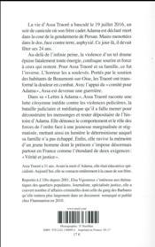 Lettre à Adama - 4ème de couverture - Format classique