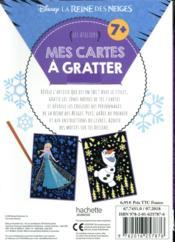 Les ateliers Disney ; la Reine des Neiges ; mes cartes à gratter - 4ème de couverture - Format classique