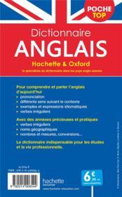 Dictionnaire Hachette & Oxford poche top ; français-anglais / anglais-français - 4ème de couverture - Format classique