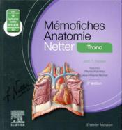 Mémo-fiches ; anatomie Netter ; tronc - Couverture - Format classique
