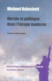 Morale et politique dans l'europe moderne - Intérieur - Format classique