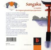 Sangaku ; le mystère des énigmes géométriques japonaises - 4ème de couverture - Format classique