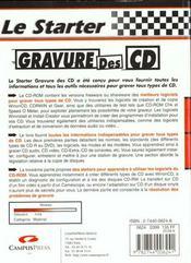 Le Starter Gravure De Cdrom - 4ème de couverture - Format classique
