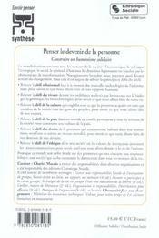 Penser Le Devenir De La Personne - 4ème de couverture - Format classique