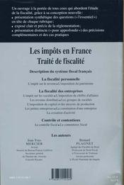 Impots En France 2000-2001 ; Traite De Fiscalite - Intérieur - Format classique