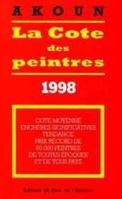 La cote des peintres 1998 - Couverture - Format classique
