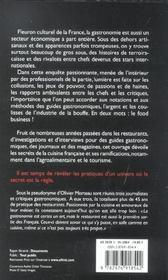 Food Business. La Face Cachée De La Gastronomie Française - 4ème de couverture - Format classique