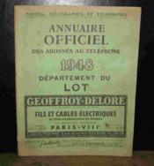 Annuaire Officiel Des Abonnes Au Telephone - Lot - 1948 - Couverture - Format classique