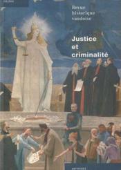 Revue Historique Vaudoise N.118 ; Justice Et Criminalité - Couverture - Format classique
