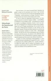 L'urgence sociale en action ; ethnographie du samusocial de Paris - 4ème de couverture - Format classique
