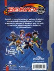 Beyblade ; mon carnet de blader - 4ème de couverture - Format classique