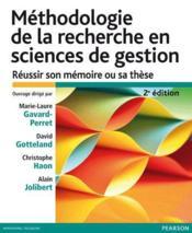 Méthodologie de la recherche en sciences de gestion (2e édition) - Couverture - Format classique