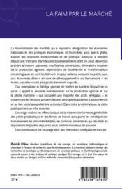 La faim par le marché ; aspects sénégalais de la mondialisation - 4ème de couverture - Format classique