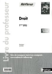 Droit term stg (poch ref) prof - Couverture - Format classique