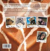PEAU, POILS ET PATTES ; la girafe - 4ème de couverture - Format classique