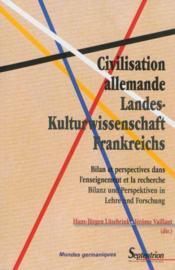 Civilisation allemande / landes- kulturwissenschaft frankreichs - Couverture - Format classique