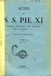 Actes De S. S. Pie Xi, Tome Ii (1924) - Couverture - Format classique