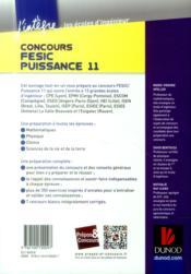Concours FESIC, Puissance 11 ; tout-en-un - 4ème de couverture - Format classique