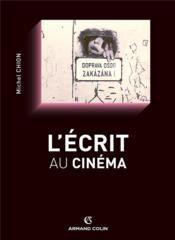 L'écrit au cinéma - Couverture - Format classique
