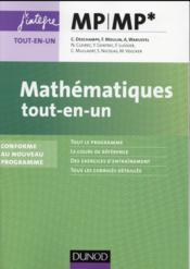 Mathématiques : MP/MP* ; tout-en-un ; nouveau programme 2014 - Couverture - Format classique