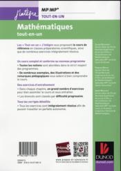Mathématiques : MP/MP* ; tout-en-un ; nouveau programme 2014 - 4ème de couverture - Format classique