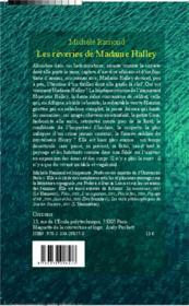 Les rêveries de Madame Halley - 4ème de couverture - Format classique