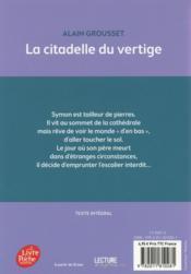 La citadelle du vertige - 4ème de couverture - Format classique