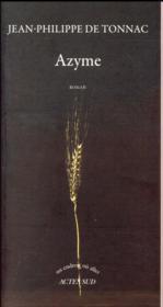 Azyme - Couverture - Format classique