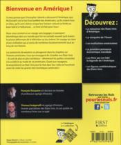 Les Etats-Unis pour les nuls (2e édition) - 4ème de couverture - Format classique