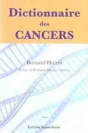 Dictionnaire des cancers (3e édition) - Intérieur - Format classique