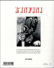 Revue L'Infini N.140 - 4ème de couverture - Format classique