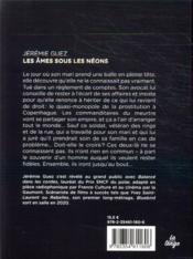 Les âmes sous les néons - 4ème de couverture - Format classique