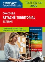 Concours attaché territorial externe ; tout-en-un (édition 2020) - Couverture - Format classique